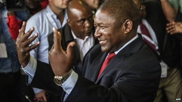 Filipe Nyusi, 55, pledged to mechanise the agricultural sector and tackle unemployment