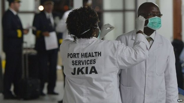 Kenyan health officials are among those on alert as a result of Ebola