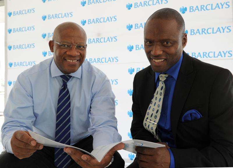 Bobby Malabie (left) Group Executive at Barclays Africa and Professor Monde Makiwane (right) of the Human Sciences Research Council at the launch of the inaugural Barclays Africa Prosper Report on 28 October 2014.