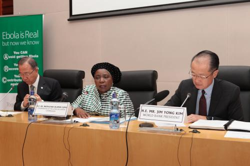 eeting between the UN Secretary General, World Bank President, delegations from the AFDB and EU Commission and the African Union Commission, Tuesday 28 October 2014.