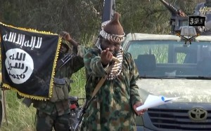 Boko Haram leader Abubakar Shekau appears on a video obtained by AFP on October 2, 2014 (AFP Photo/)