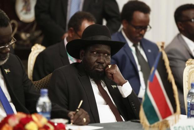 Salva Kiir, President of South Sudan, in contemplative mood.