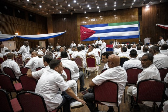 Sierra Leone's government welcomes the 165 Cuban health-care workers who came to fight Ebola. Glenna Gordon for The Wall Street Journal