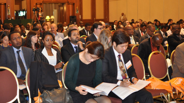 A view of the audience during Day One of the Devex Partnerships and Career Forum from Oct. 21-22 in Addis Ababa, Ethiopia. What's next for global development in the next decade? Photo by: Goitom Habtemariam / Devex