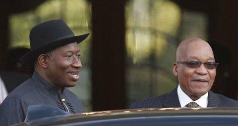 Goodluck Jonathan and Jacob Zuma