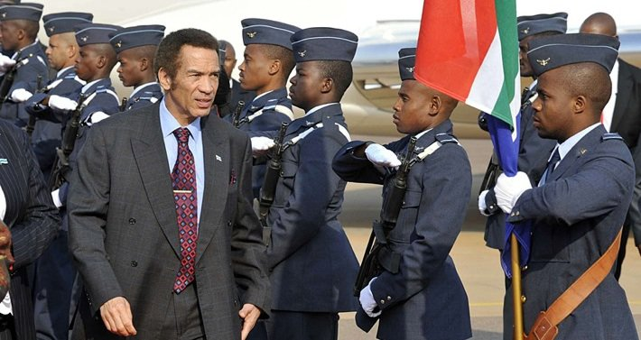 President Ian Khama, the son of Botswana's first president, won a second five-year term in elections on 24 October. Photo©Reuters
