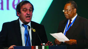 UEFA's Platini and CAF's Issa Hayatou