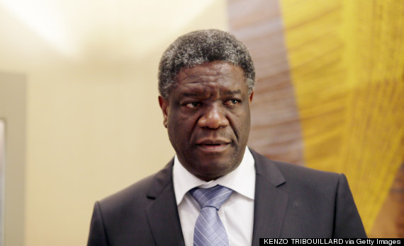 Doctor Denis Mukwege, founder of a pioneering rape victims clinic in the Democratic Republic of Congo