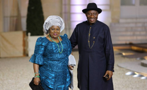 First Lady Patience Jonathan and President Goodluck Jonathan.
