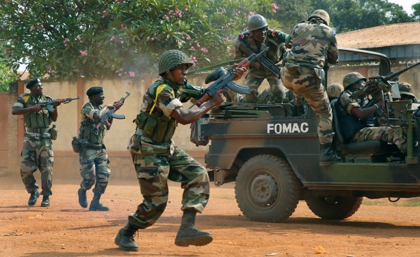 Central African forces