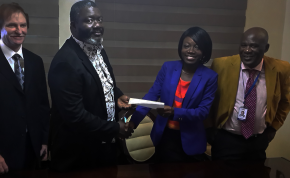 GE signs Waukesha gas engines distributor agreement for Nigeria with IGPES Gas and Power. Pictured Left to Right: Lon Mahan, COO: IGPES Gas and Power; Uzoma Ekpecham, Managing Director/CEO: IGPES Gas and Power; Oluwatoyin Abegunde, Channel Partner Manager: GE's Distributed Power; Sunny Okpodu, Business Development Manager: IGPES Gas and Power