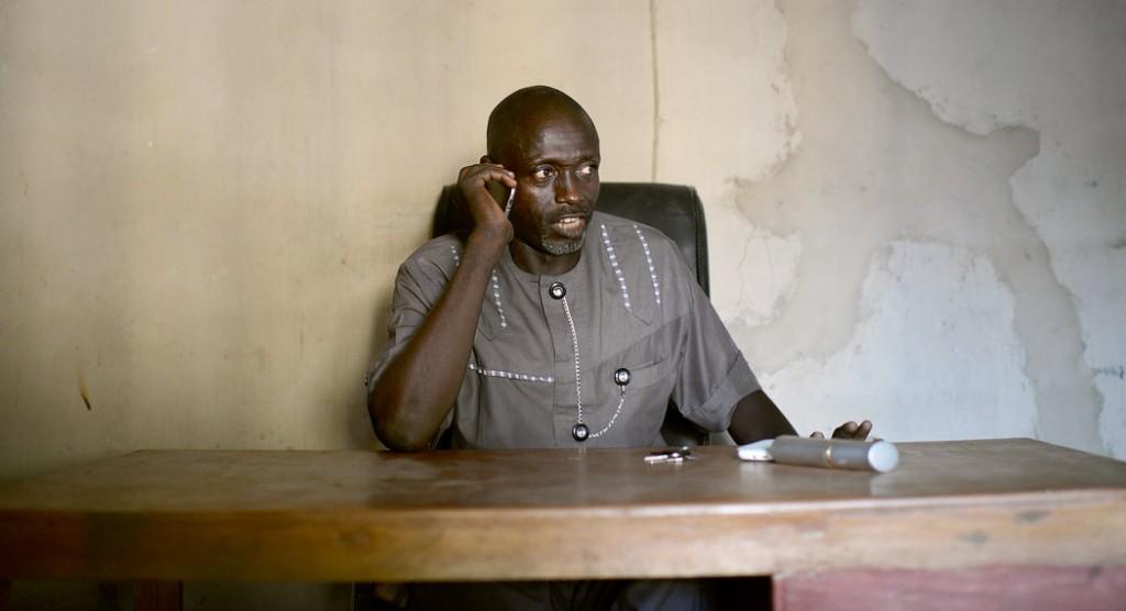 Abba Aji Kalli at his Civilian Joint Task Force office in Maiduguri, Nigeria. Credit Benedicte Kurzen/Noor Images
