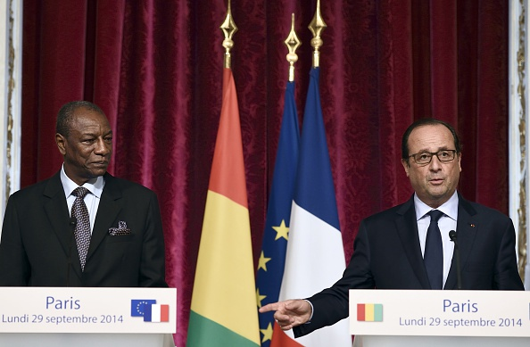 "Francois Hollande: ""I want to be here in Guinea to show France's solidarity through the trials you're experiencing"""