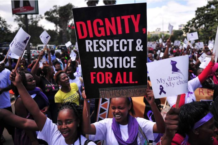 My Dress, My Choice protest in Nairobi