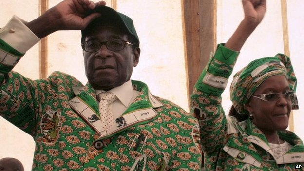 Mrs Mugabe joined her husband in politics earlier this year - and plans to lead the Zanu-PF women's wing