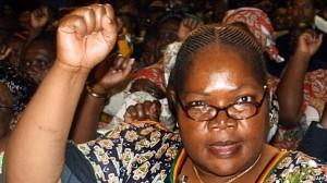 Joyce Mujuru was once a staunch ally of Mr Mugabe