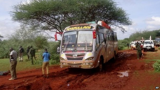 The driver of the bus tried to accelerate away from the militants, but the vehicle got stuck in wet mud