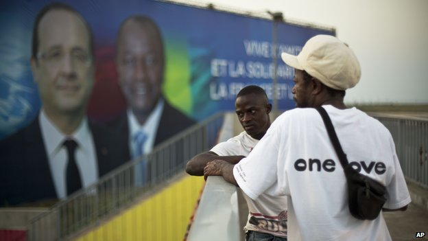"Guinea's President Alpha Conde said: ""If Francois Hollande can come here, it means anyone can"