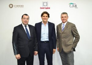 From left to right Farid Chedid, Alexandre Ziad Karkour and Arnaud Lagesse
