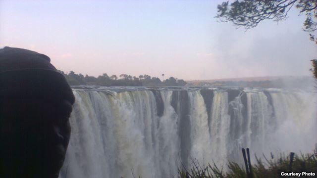 Victoria Falls and the Zambezi River, viewed from Zimbabwe.