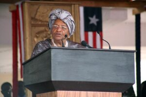 Liberian President Ellen Johnson Sirleaf says she will not seek an extension of the state of emergency (AFP Photo/)