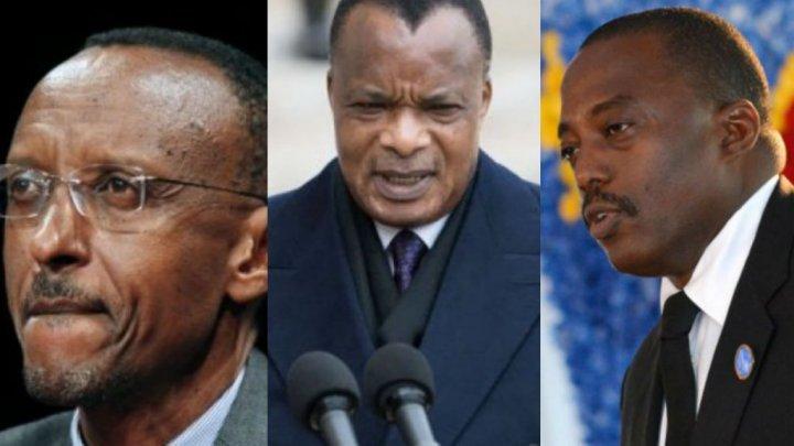 AFP | Left to right: Paul Kagame, Denis Sassou Nguesso and Joseph Kabila