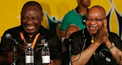 South Africa's Deputy President Cyril Ramaphosa (L) and President Jacob Zuma (R). Photo©Reuters
