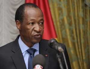 Burkina Faso's President Blaise Compaore speaks at the Presidential Palace in Ouagadougou on July 26, 2014 (AFP Photo/Sia Kambou)