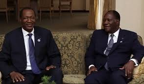 Ivorian President Alassane Ouattara and recently deposed Blaise Compaore of Burkina Faso, believed to have provided a base for the Ivorian rebellion