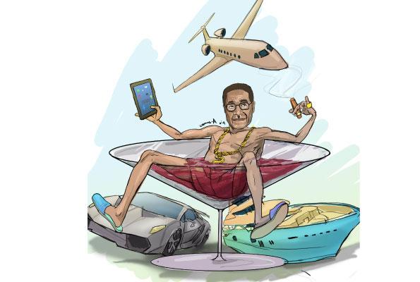 An illustration of Mugabe's lavish lifestyle