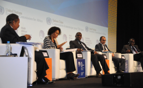 Photo: UNECA A panel convenes to discuss the complex implications of curbing illicit financial flows, as an innovative means of financing development in Africa during the 9th African Development Forum held in Marrakech, Morocco.