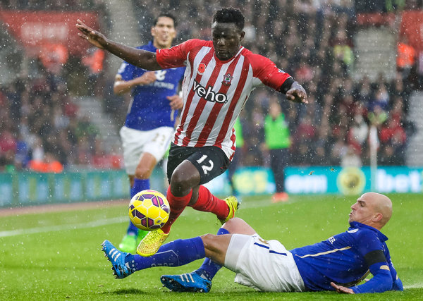 Southampton's Victor Wanyama faced a challenge from Leicester City's Esteban Cambiasso during a match on Nov. 8. Credit Chris Ison/Press Association, via Associated Press