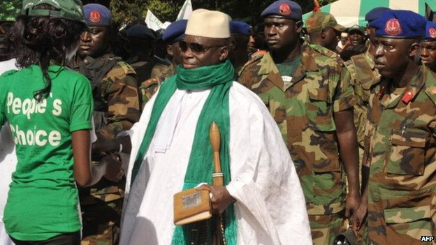 Mr Jammeh has won four successive elections but all of them have been marred by allegations of rigging