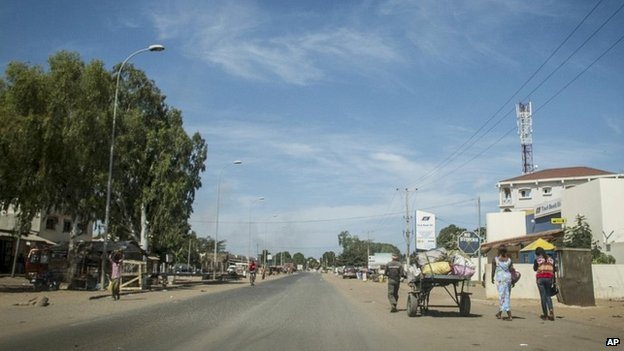 Residents in Banjul said the capital remained in lockdown with only government soldiers allowed in and out