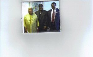 From left to right Prof Ali Mazrui, Mathatha Tsedu and Prof James Kariuki