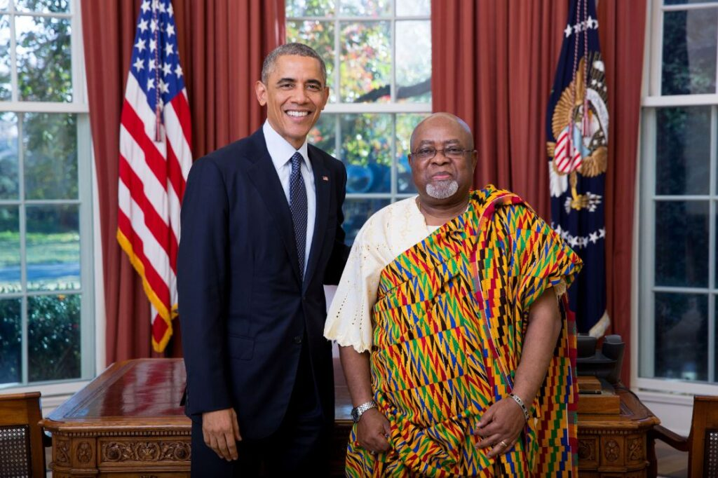 U.S. President Barack Obama with Ambassador Lt Gen. Joseph Henry Smith of the Republic of Ghana.