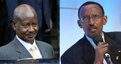 President Yoweri Museveni, Uganda (L) President Paul Kagame, Rwanda (R)