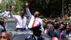Cheering crowds welcome Kenyatta on return from The Hague