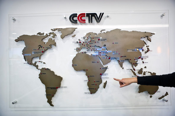 The state-run China Central Television opened CCTV Africa in Nairobi, Kenya, in 2012.Credit Sven Torfinn for The New York Time