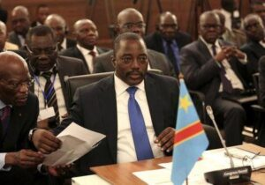 Democratic Republic of Congo's President Joseph Kabila attends a two-day meeting of leaders from the Southern African Development Community (SADC) in Pretoria November 4, 2013. REUTERS/Siphiwe Sibeko