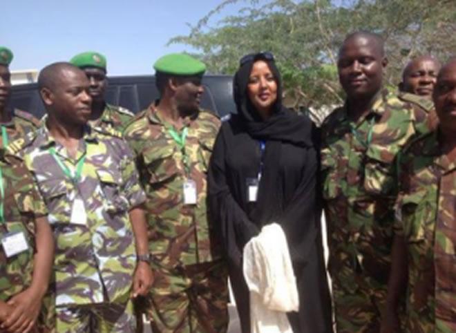 CS Amina with KDF troops in Somalia.