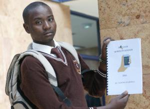 Clinton Nyamweya, a student at Nyansiongo High School at Star offices in December 2014. - Photo The Star Kenya