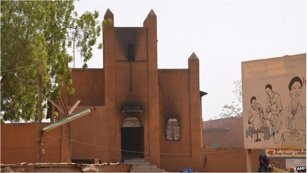 Churches and French interests have been targeted in Niger - a former French colony