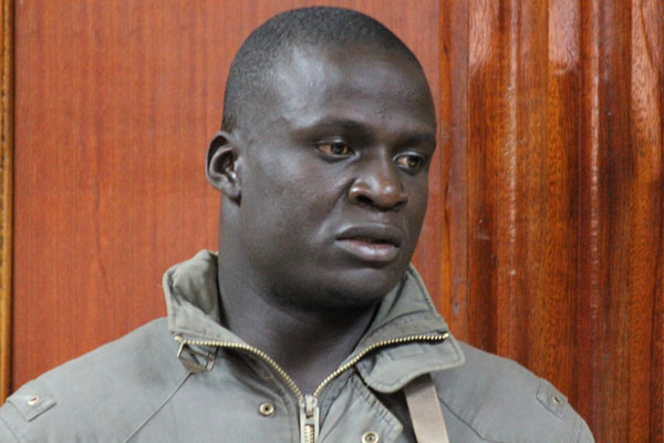 Moi University student Alan Wadi Okengo alias Lieutenant Wadi in a Nairobi court January 2, 2015, where he was charged with hate speech and insulting President Uhuru Kenyatta. He pleaded guilty and was jailed for two years. PHOTO | PAUL WAWERU | NATION MEDIA GROUP