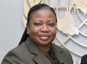 "Photo: UN Photo/Rick Bajornas ICC Prosecutor Fatou Bensouda: ""the list of atrocities is endless"""
