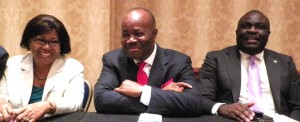 Chair of PDP Governors Forum Godswill Akpabio with Harold Molokwu in Washington DC