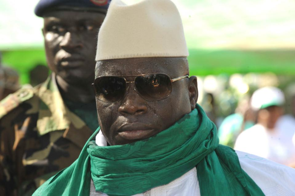 President Yahya Jammeh has ruled Gambia, an impoverished state that runs along the Gambia River, for 20 years and has been widely accused of human rights violations (AFP Photo/Seyllou)