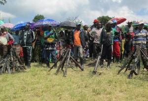 Members of the Democratic Forces for the Liberation of Rwanda rebel group, in Kateku, North Kivu, in the Democratic Republic of Congo, May 30, 2014 (AFP Photo/Jean Baptiste Badhera)