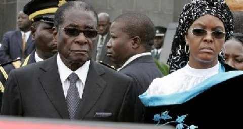 President Robert Mugabe and his wife Grace. File