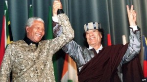 South Africa brokered a deal between Libyan Leader Muammar Gaddafi and his Western foes